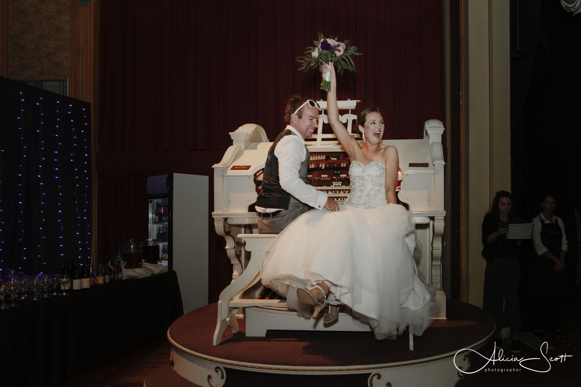 Image of Daniel and Jennifer at their Southward Car Museum wedding, Otaihanga, taken by Alicia Scott Kapiti Coast Wedding Photographer