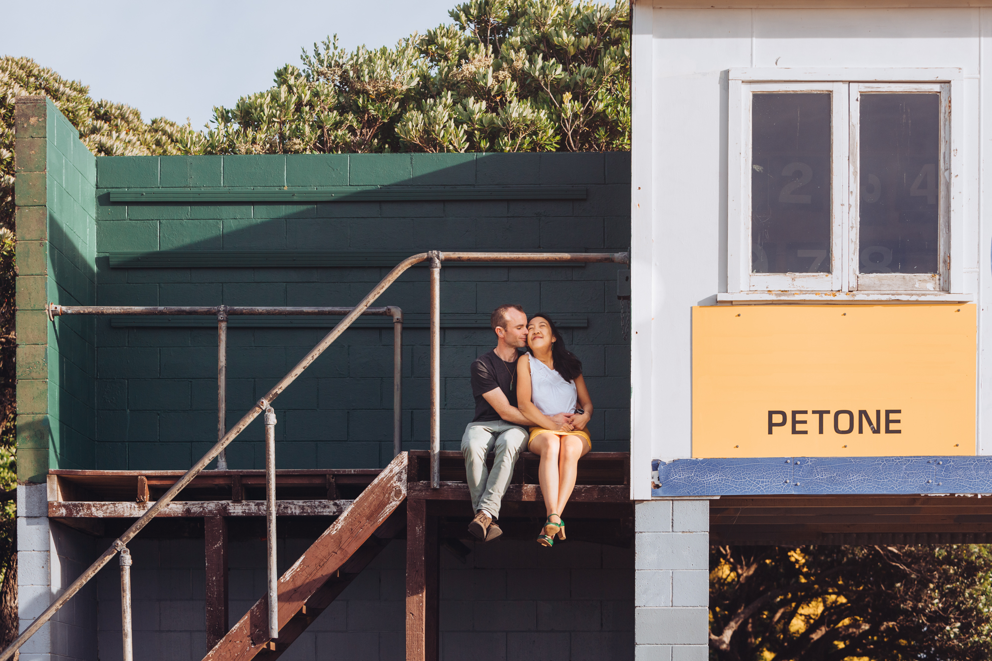 Image of Amanda and Derek taken by Alicia Scott Photographer at their Petone engagement session