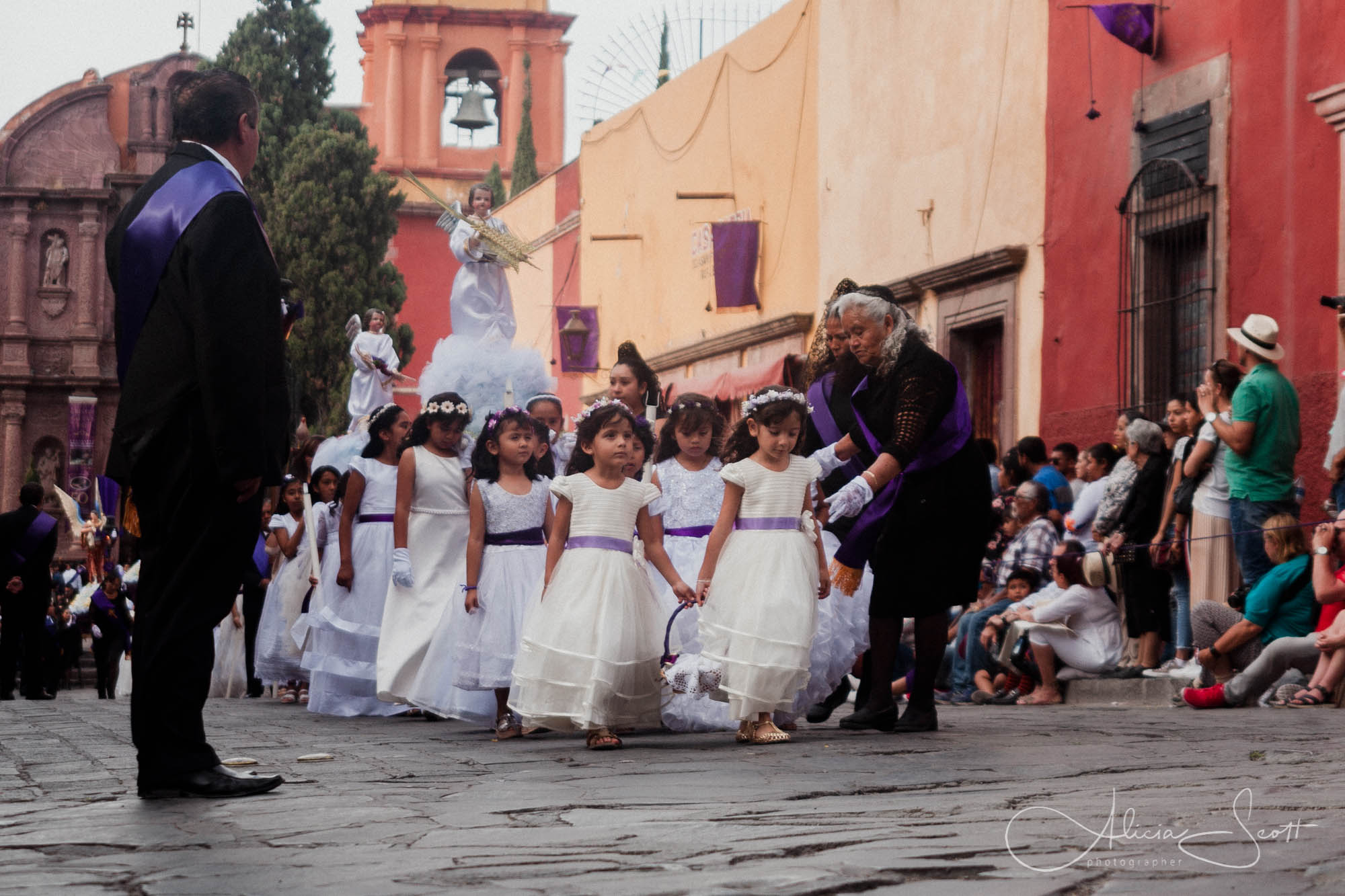 Angelitos during Holy Wednesday or Miercoles Santa during Holy Week in San Miguel de Allende